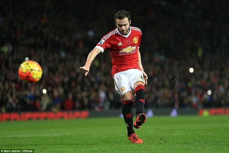 Juan Mata added a stoppage-time penalty after McAuley had been sent off for bringing down Martial