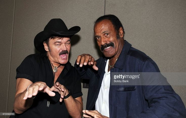 Randy Jones and Fred Williamson attend Chiller Theatre Expo Spring 2017 - Day 3 at Hilton Parsippany on April 23, 2017 in Parsippany, New Jersey.