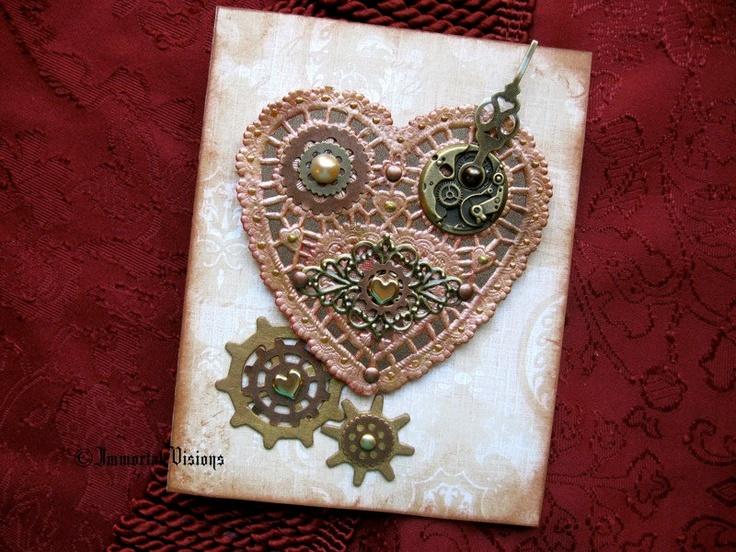 steampunk valentine u0026 39 s day greeting card
