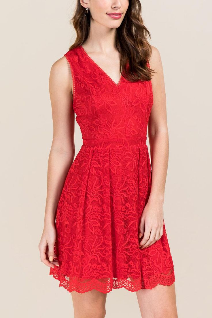 Cecily Lace Open Back A-line Dress