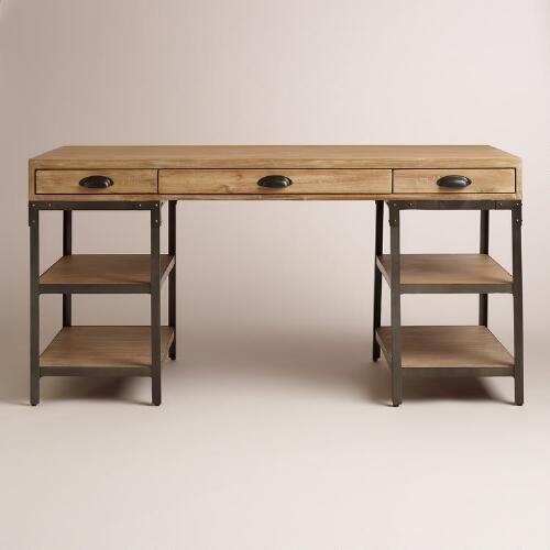 Elegant Wood And Metal Teagan Desk