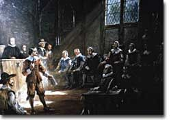 After his arrival in Jamestown in 1619, Governor George Yeardley immediately gave notice that the Virginia colony would establish a legislative assembly. This assembly, the House of Burgesses, first met on July 30, 1619.