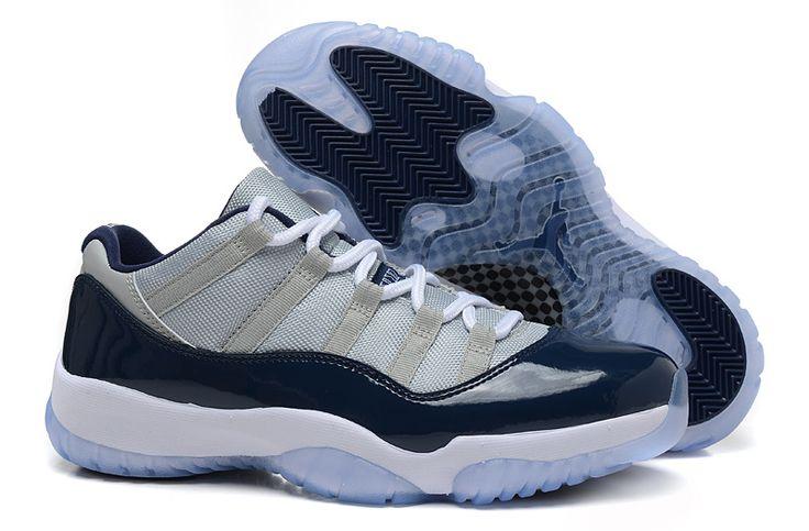 【正品品質】nike air jordan 11 retro low aj11 喬丹11代低筒男女籃球鞋 灰寶藍