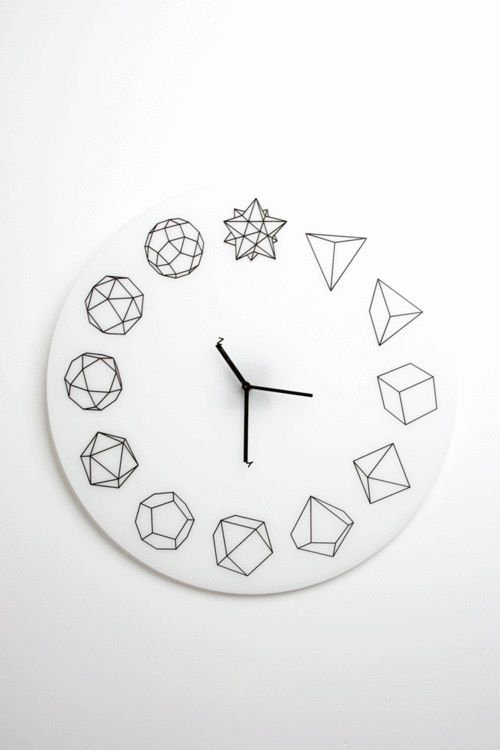 what time is it in Geometry Land? #homedecor