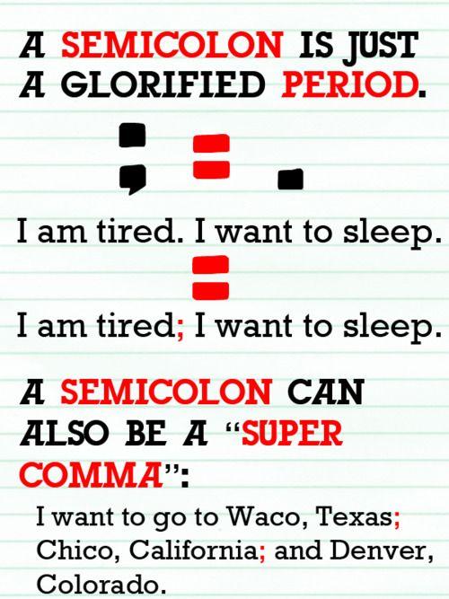 Teaching Stuff / Colon vs. Semicolon