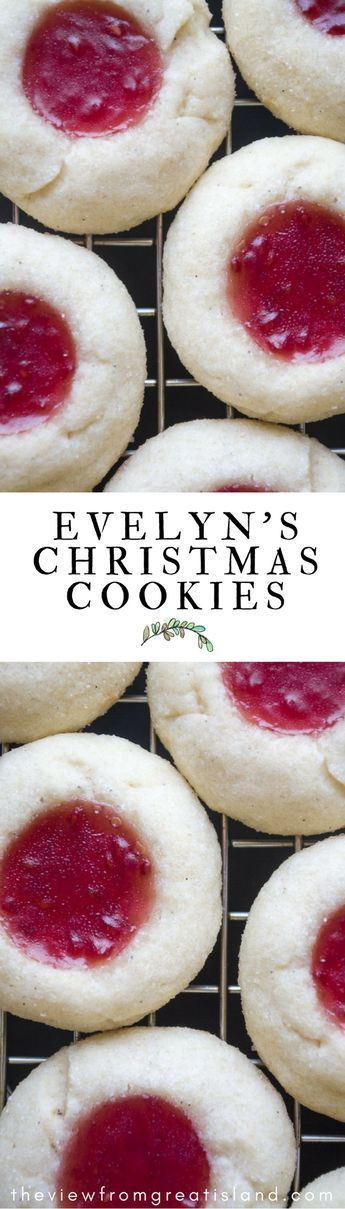 Reader's Recipes: Evelyn's Christmas Cookies --- buttery little jam thumbprint cookies perfect for the holidays and beyond! #cookies #Christmas #thumbprintcookies #jam #shortbread #easycookies #holidaycookie #vanilla