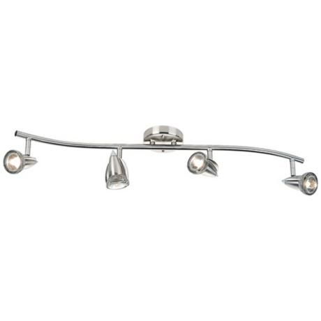LED or Halogen Pro Track Four Light Mini Wave Bar Fixture -