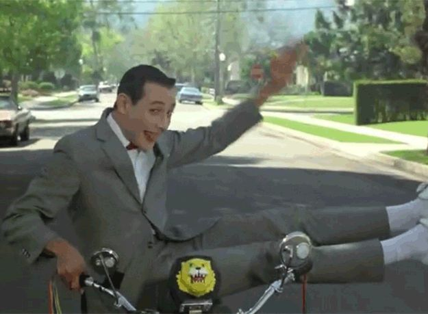 "Excited for FILM CLUB TUESDAY at 6:30pm!! Showing my favorite film of all time at the library!! 14 Things You Probably Never Knew About ""Pee-wee's Big Adventure"""