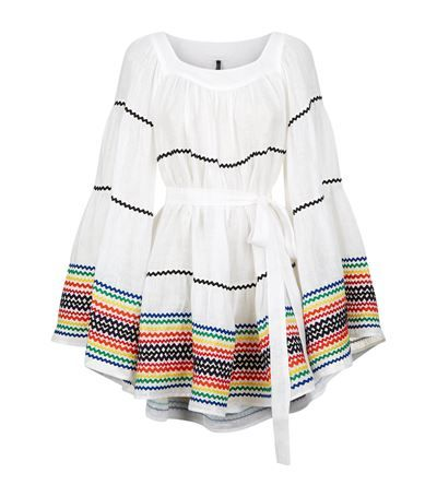 LISA MARIE FERNANDEZ Ric Rac Linen Peasant Dress. #lisamariefernandez #cloth #