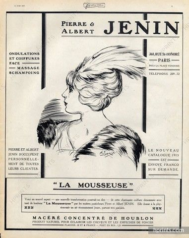 Pierre & Albert Jenin (Hairstyle) 1913 Hairpieces, Postiches, Wig —…