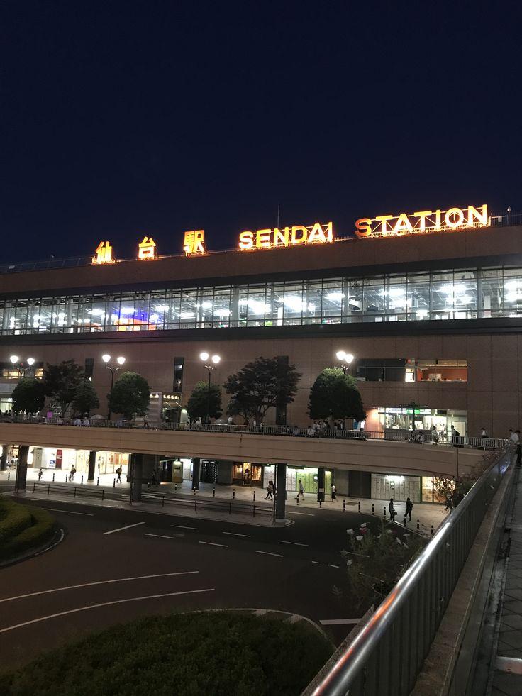 夜の仙台駅