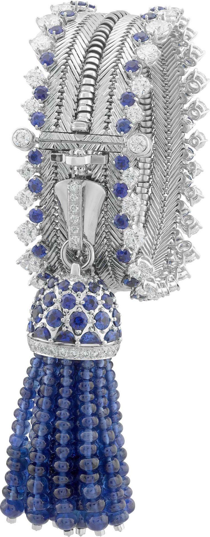 Diamond and Sapphire Zip bracelet