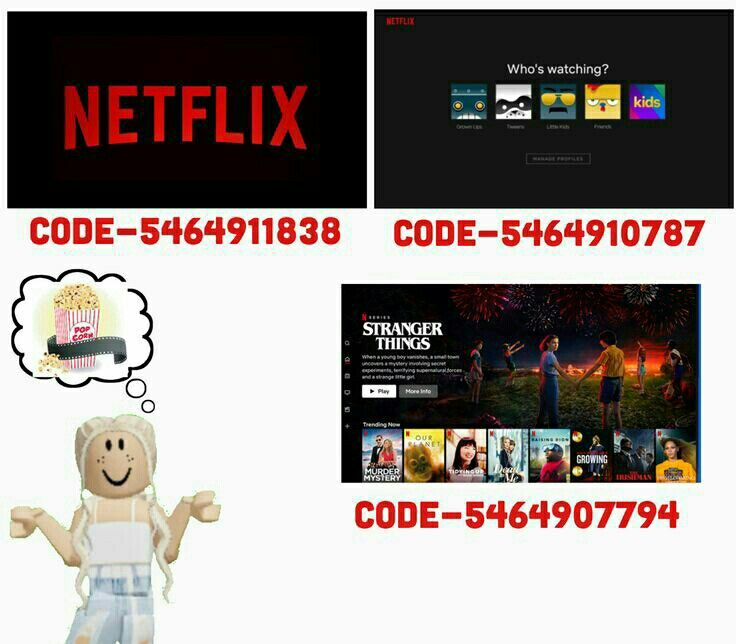 Netflix [not mine] in 2020 Roblox pictures, Decal design