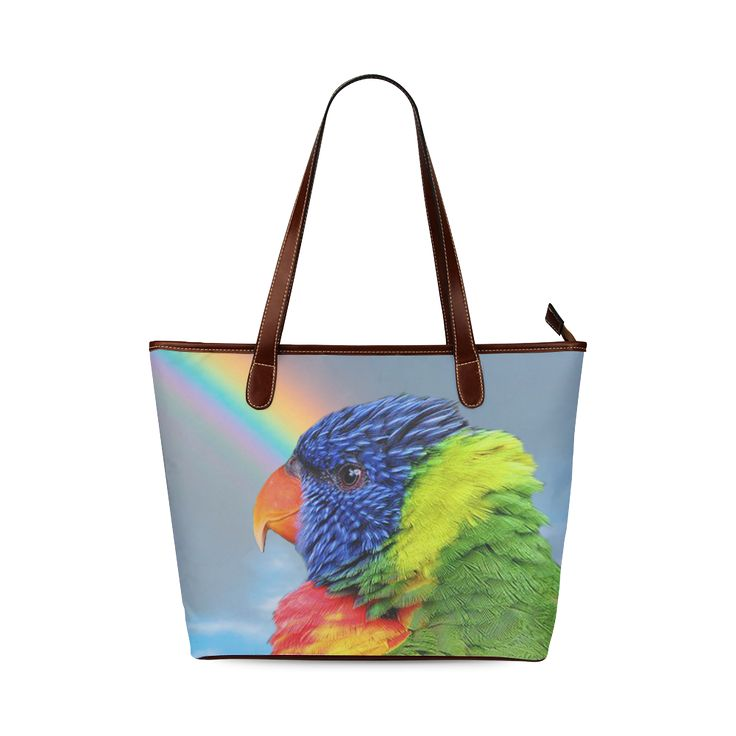 Rainbow Lorikeet Shoulder Tote Bag. FREE Shipping. #artsadd #bags #parrots