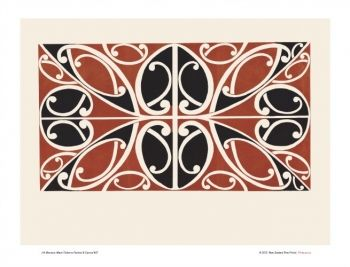 Design 7 from Maori Patterns: Painted & Carved