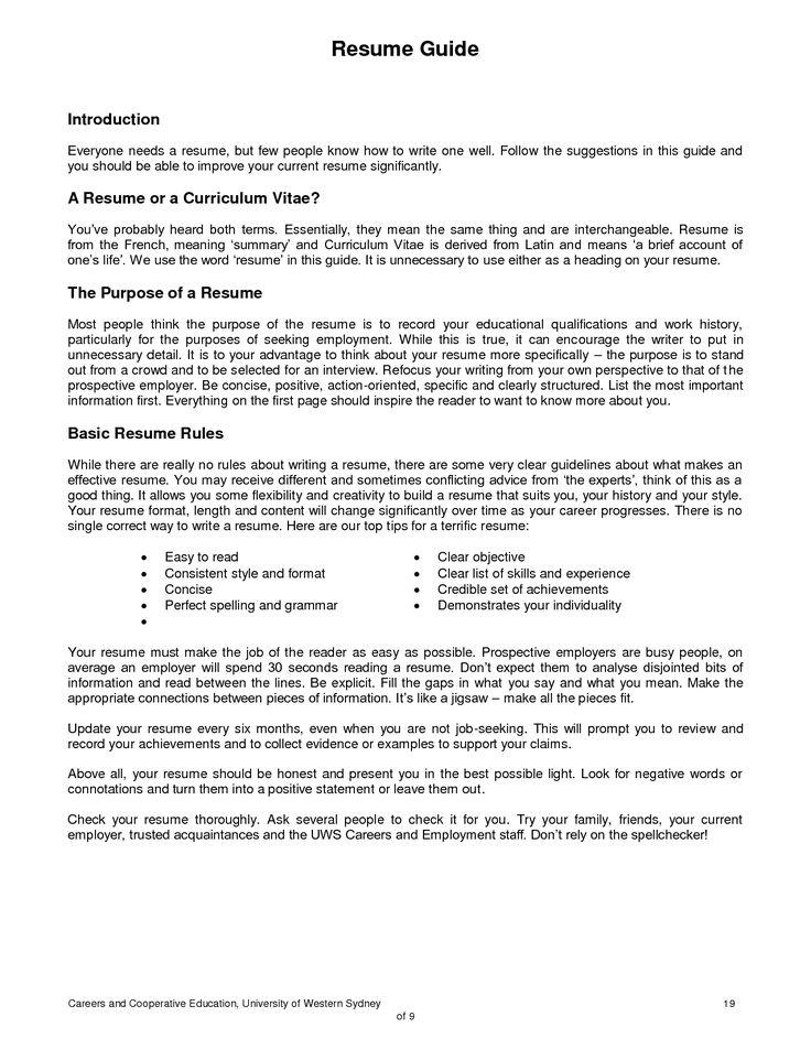 how to make a resume australia