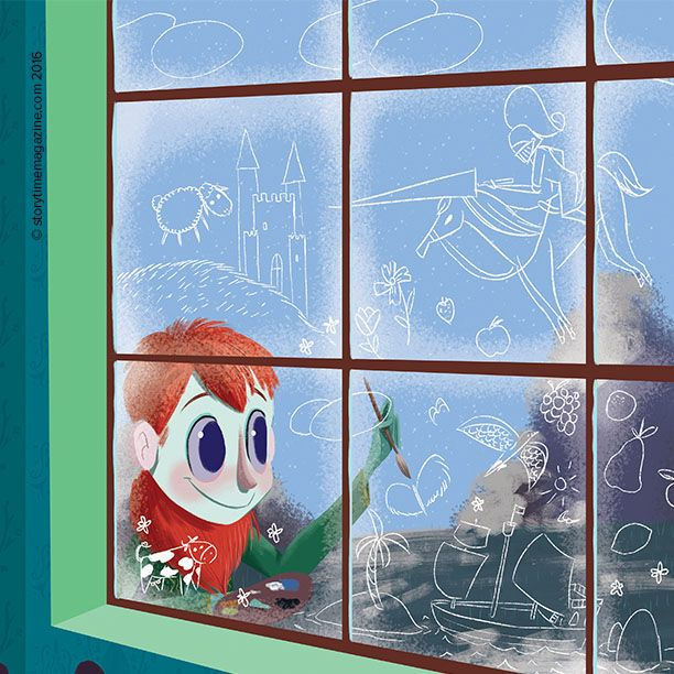 Our wintry Jack Frost poem from Storytime issue 28, with art by David Pavon. ~ STORYTIMEMAGAZINE.COM