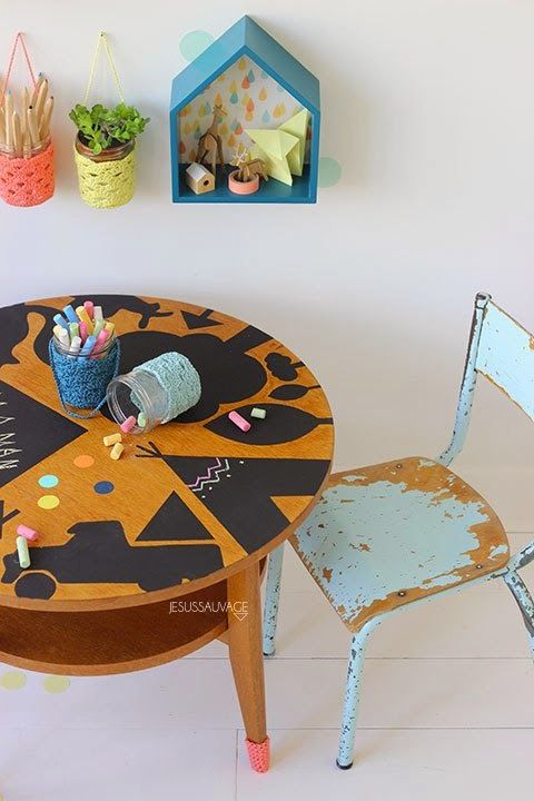 Fun DIY chalkboard table