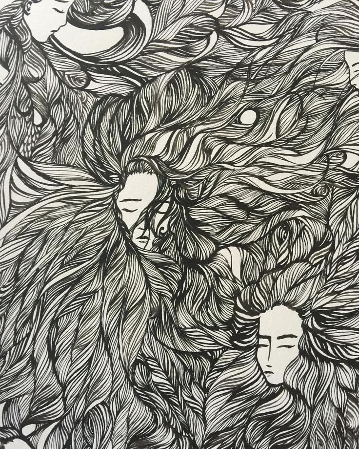 Ashya Lane-Spollen, ink and quill (detail).  Returning to this one after a little break. More hair, more faces...(more hand cramp!) #illustration #illustrator #art #artist #irish #french #ireland #france #artlife #artblog #artblogger #hair #style #quill #ink #draw #drawing #blackandwhite #woman #women #girl #peace #serenity #meditation #sleep #dream
