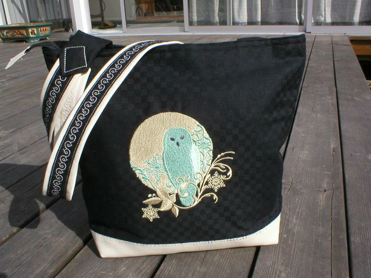 Väska med ugglebroderi