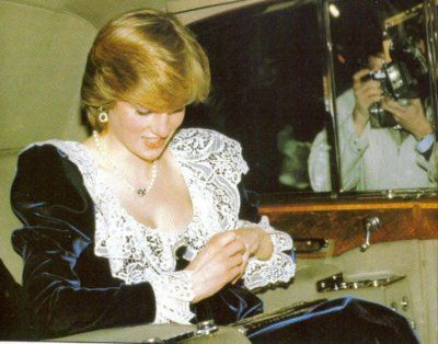 February 2, 1982: Prince Charles & Princess Diana attending a British Film Institute dinner at 11 Downing Street, the Chancellor of the Exchequer's official residence, London.