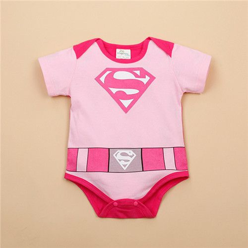 >> Click to Buy << Summer Baby Boys Girls Rompers Pink Blue Superman Clothing Super Cute Infant Costume #Affiliate