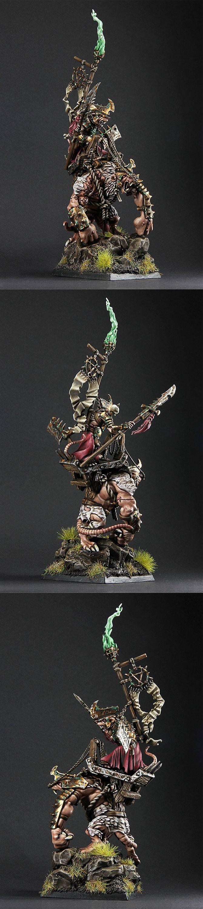 Skaven Warlord on Rat Ogre Bonebreaker