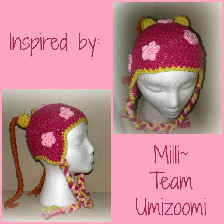 Free Crochet Pattern Umizoomi : Crochet hat Inspired by Milli from Team Umizoomi Crochet ...