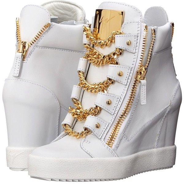 Giuseppe Zanotti RS5069 ($1,275) ❤ liked on Polyvore featuring shoes, sneakers, birel bianco, sneakers & athletic shoes, giuseppe zanotti sneakers, giuseppe zanotti trainers, giuseppe zanotti, synthetic shoes and hidden wedge heel sneakers
