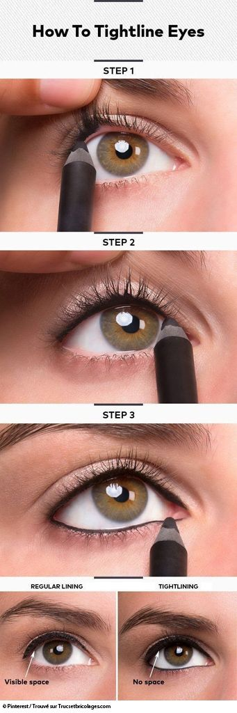 Tightline : comment se faire un maquillage des yeux tight line avec un eye-liner ou un crayon khôl...