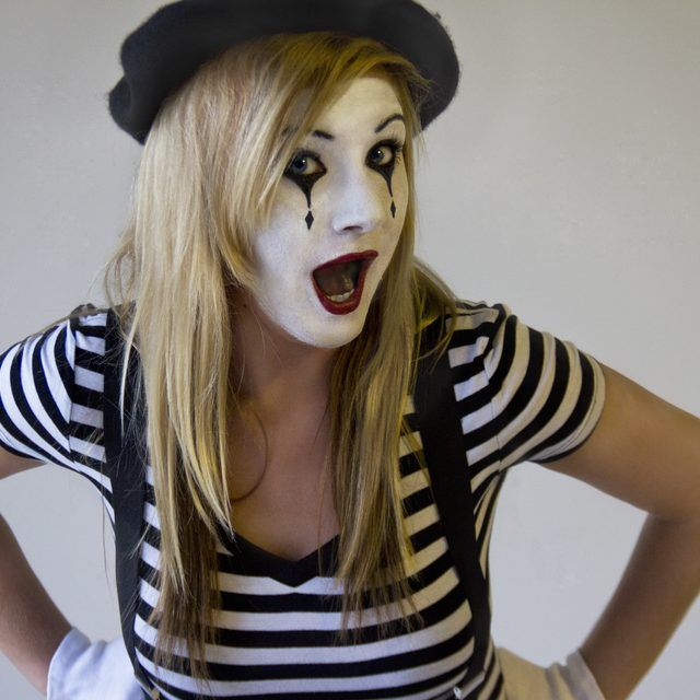 1000 Ideas About Mime Makeup On Pinterest Clown Makeup Mime Costume And Cute Clown