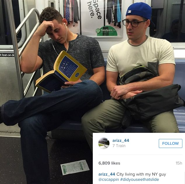 PHOTO: Anthony Rizzo rides New York subway after Cubs win | CSN Chicago