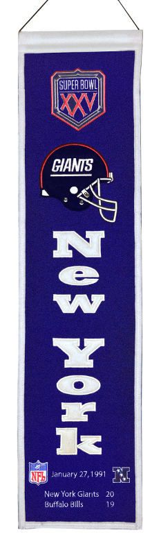 New York Giants Super Bowl XXV Wall Banner - $34.99 at Sportsfan Store