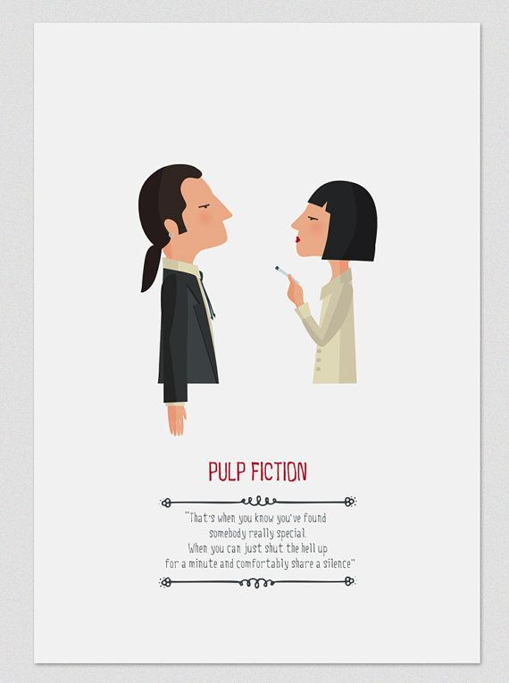 Illustration. Pulp Fiction. Print based on the by Tutticonfetti