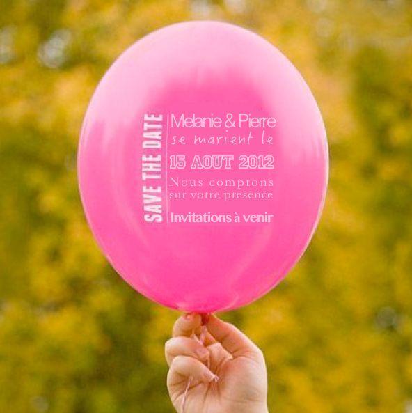 Save the date Ballon julesetmoi-boutique.fr 295€