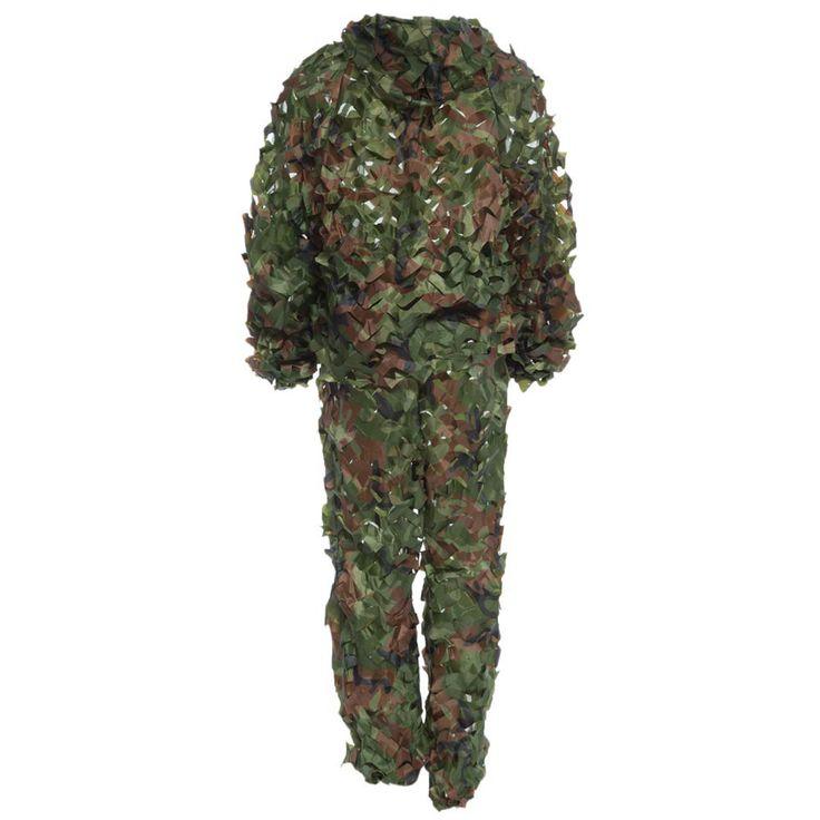 2016 I Più Nuovi Realistici Caccia Tattico 3D Camo Leaf Camouflage Abiti Ghillie Bionic Training Suit Set CS Savage Kit di Stoccaggio