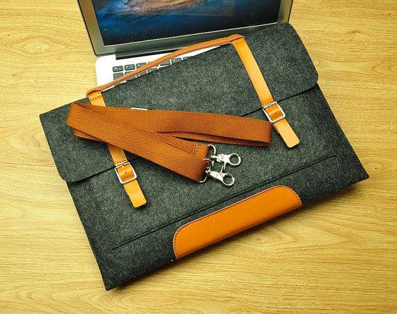 Felt Laptop Bag for Macbook 11inch 12inch 13inch 15inch by TopFelt