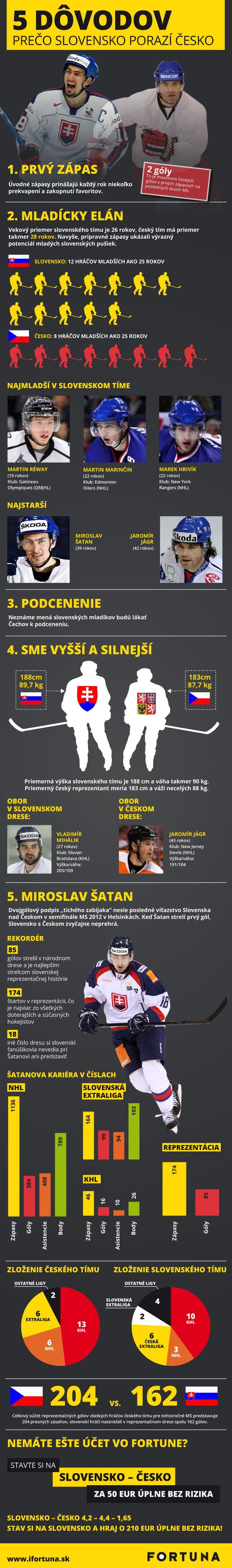 MS v hokeji 2014. Slovenská infografika. Jak porazit Čechy.