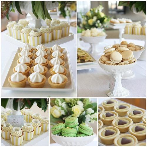 Lemon & Cream Baby Shower Dessert Table