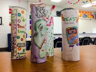 Cylinder Volume and Surface Area BEAST Energy Project from Math Fun on TeachersNotebook.com (2 pages)