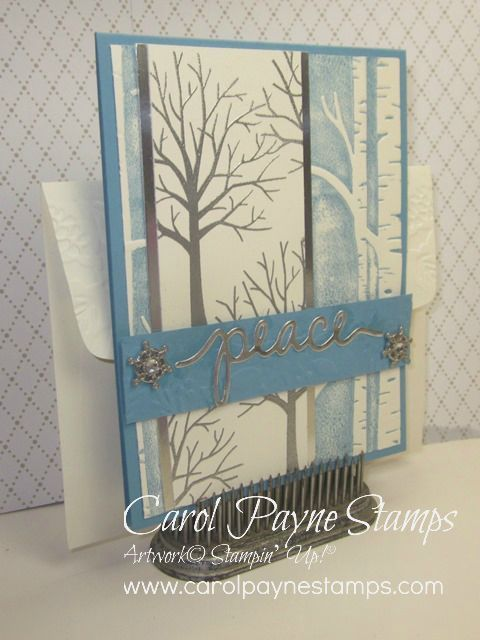 Stampin' Up!, DIY Crafts, Sheltering Tree, Woodland Textured Impressions Folder, home made Christmas Cards
