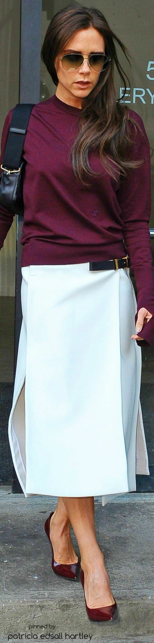 Victoria Beckham women fashion outfit clothing style apparel @roressclothes closet ideas