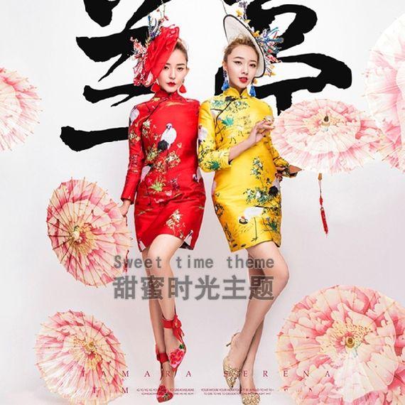 Photo album personalized photo cheongsam beauty Ji new photo costumes annual party theme girl girl installed