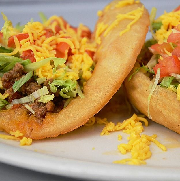 Puffy Tacos - You could use any of your favorite taco ingredients with these Puffy Taco Shells!