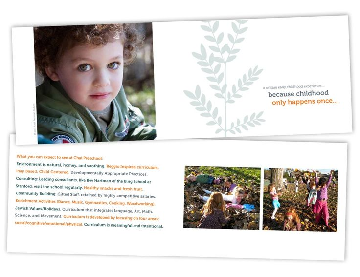 preschool flyers design Client Chai Preschool School Brochure - sample preschool brochure
