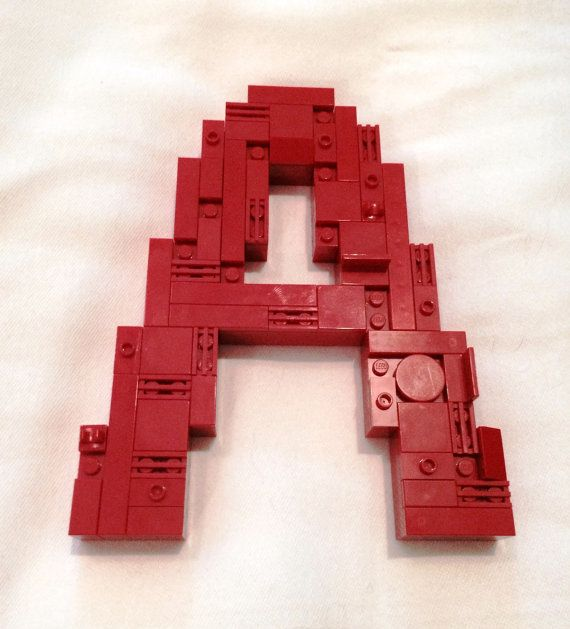 Custom LEGO Wall Letter Art Built Of LEGO By BrickLetters On Etsy, $54.95