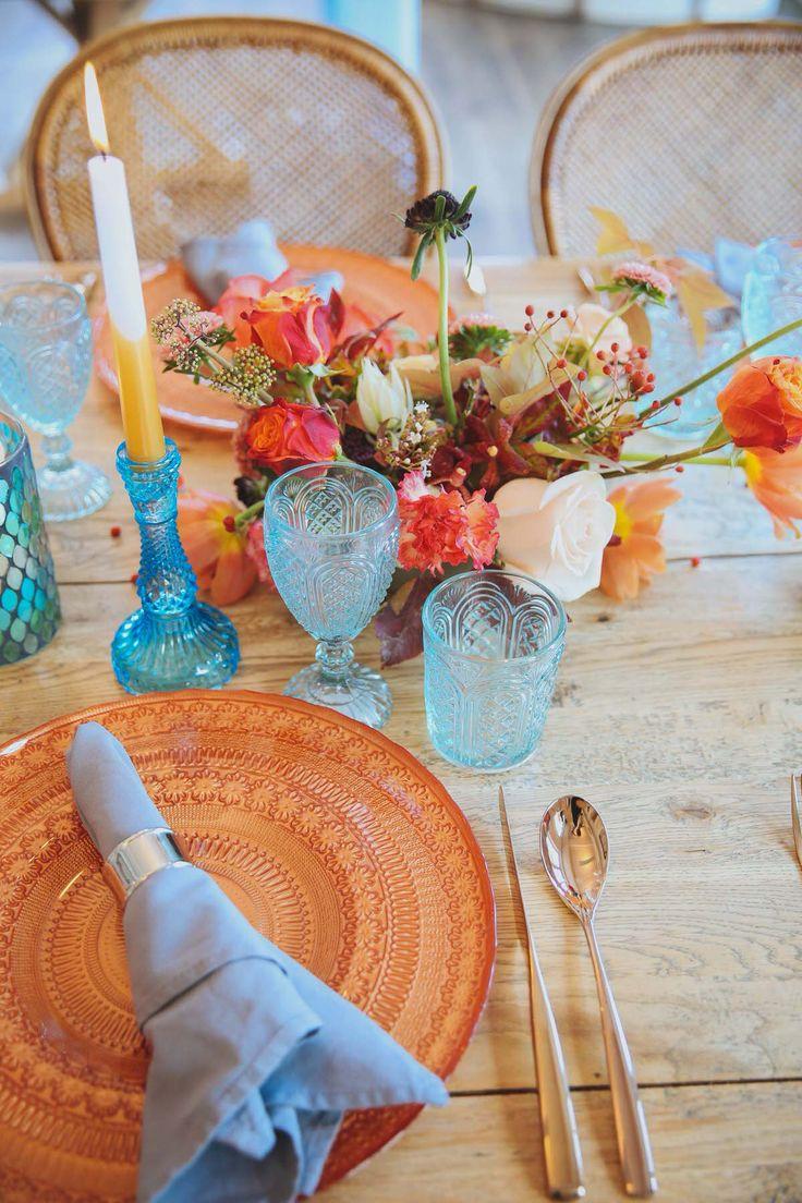 Modern Orange & Blue Wedding Styling Ideas At Watsons Bay Boutique Hotel - Polka Dot Bride | Photo by https://www.instagram.com/amykatesnaps/