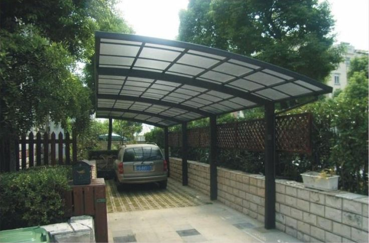 68 best carport images on pinterest garages car ports for Carport landscaping ideas