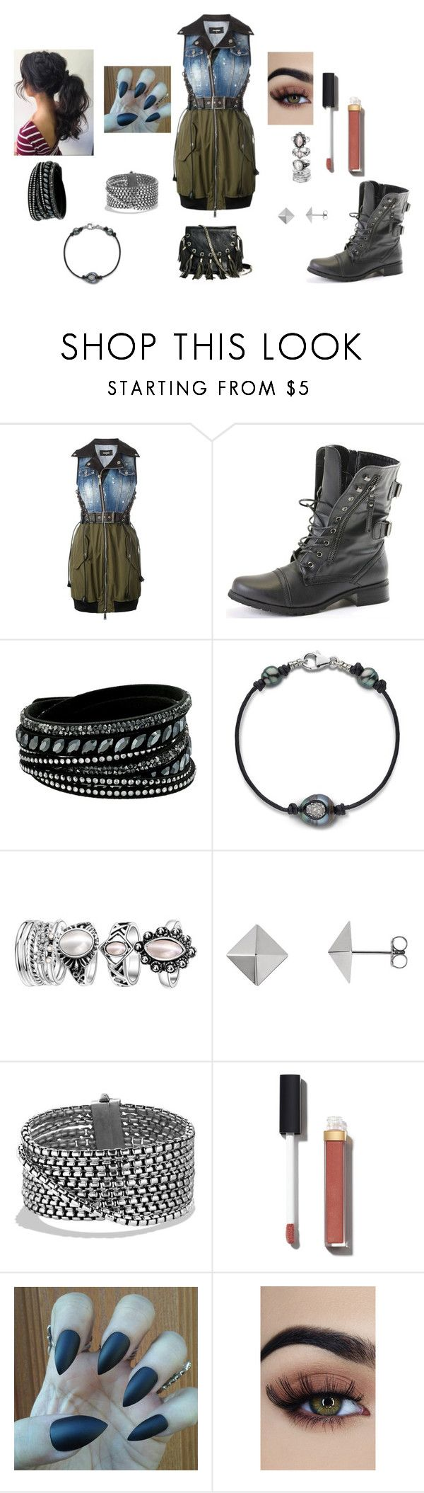 """""""Untitled"""" by chelbik on Polyvore featuring Dsquared2, CO, Swarovski, David Yurman, Chanel and GUESS by Marciano"""