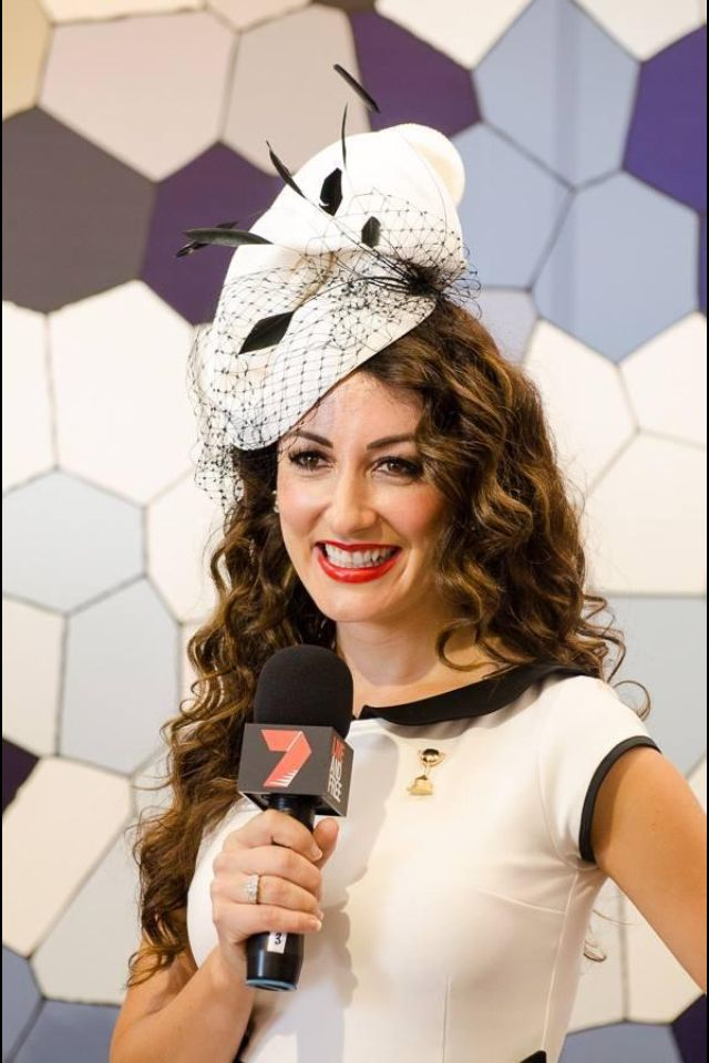 Angela Kennedy from MKR in Coco Dress made for her for Derby Day 2013